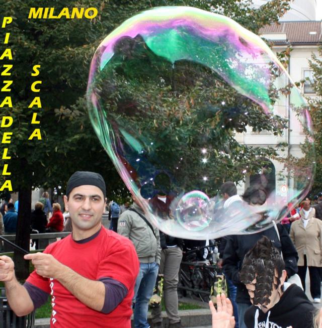 Spettacolo bolle giganti