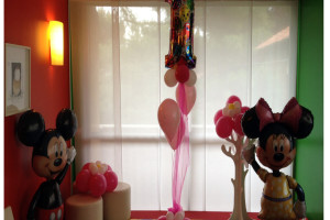 minnie e topolino addobbo palloncini compleanno 3